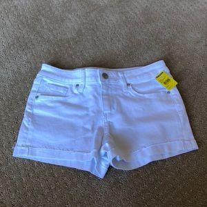 Girls white jean shorts. Brand new.